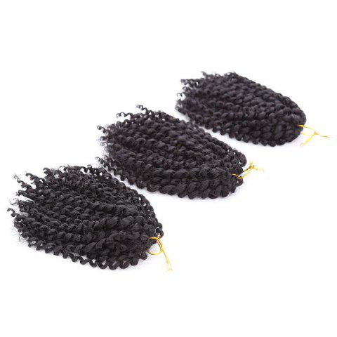 Short Fluffy Afro Curly Mali Bob Braids Synthetic Hair Weft Noir