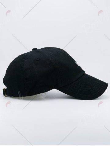 Store Letters Embroidery Sport Baseball Cap - BLACK  Mobile