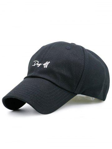 Outfits Letters Embroidery Sport Baseball Cap BLACK