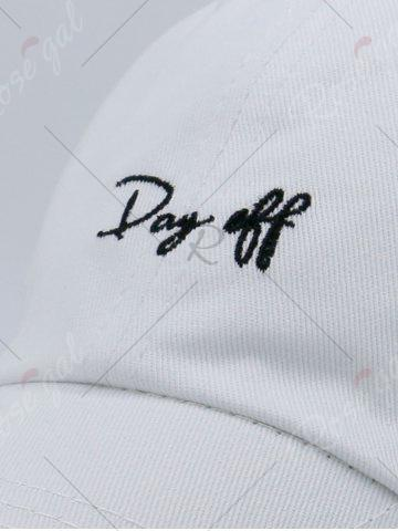 Shop Letters Embroidery Sport Baseball Cap - WHITE  Mobile