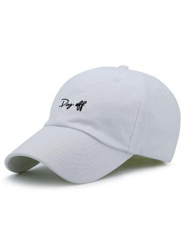 Store Letters Embroidery Sport Baseball Cap - WHITE  Mobile