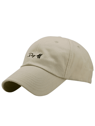 Chic Letters Embroidery Sport Baseball Cap - KHAKI  Mobile