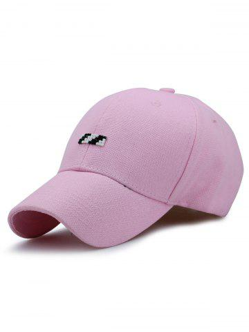Tiny Rectangle Embellished Baseball Cap Papaye