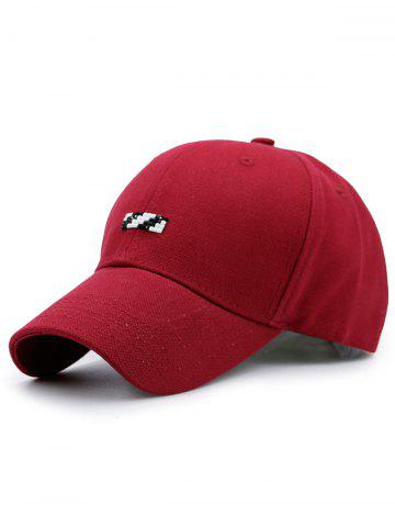 Outfits Tiny Rectangle Embellished Baseball Cap RED