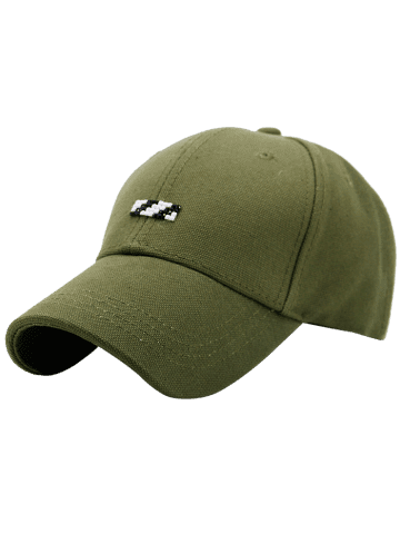 Outfits Tiny Rectangle Embellished Baseball Cap - GREEN  Mobile