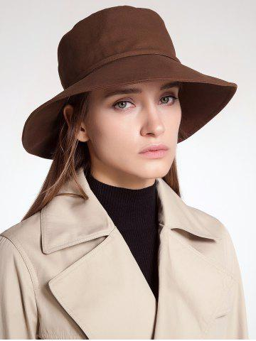 Online Ribbon Embellkished Sunscreen Bucket Hat COFFEE