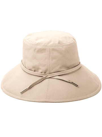 Hot Ribbon Embellkished Sunscreen Bucket Hat - APRICOT  Mobile