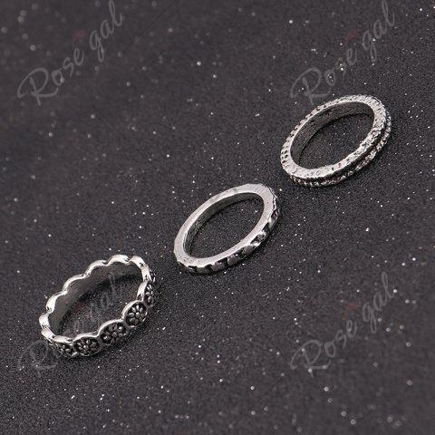 New Deer Heart Love Finger Ring Set - SILVER  Mobile