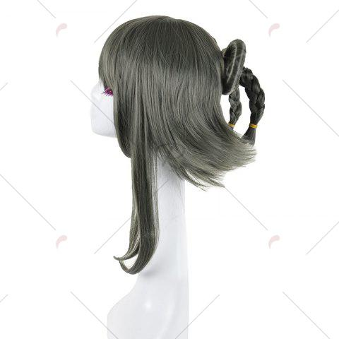 Sale Long Full Bang Straight Round Braided Lolita Cosplay Wig - INK PAINTING  Mobile