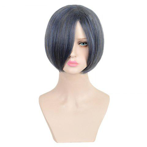 Discount Short Colormix Side Bang Straight Black Butler Ciel Phantomhive Cosplay Wig - COLORMIX  Mobile
