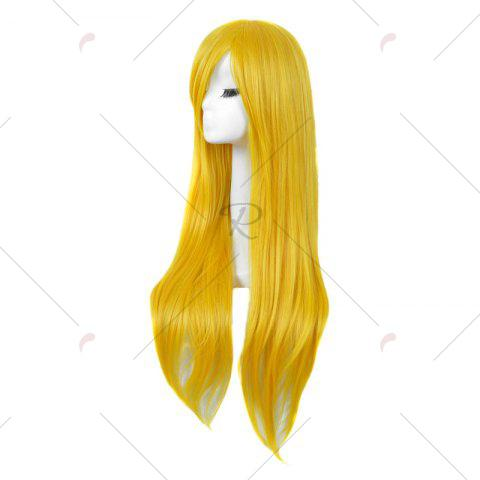Chic Long Side Bang Straight My Little Pony Lily Cosplay Anime Wig - YELLOW  Mobile