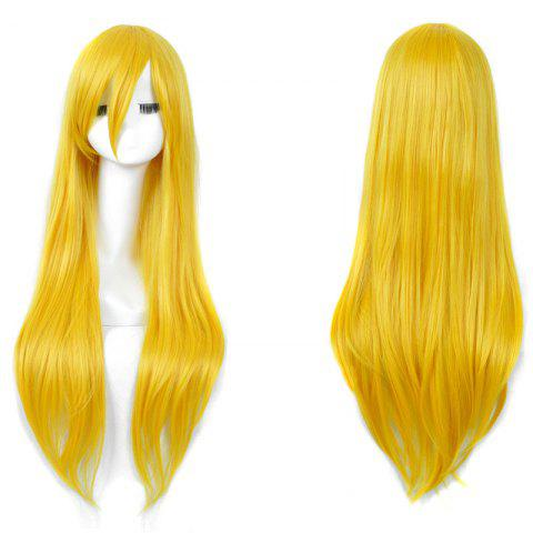 Fashion Long Side Bang Straight My Little Pony Lily Cosplay Anime Wig - YELLOW  Mobile