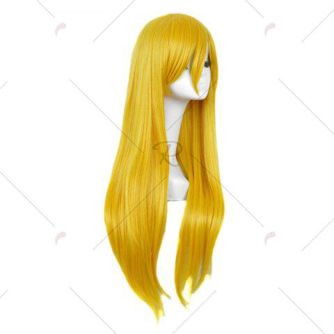 Store Long Side Bang Straight My Little Pony Lily Cosplay Anime Wig - YELLOW  Mobile