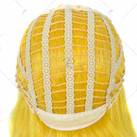 Hot Long Side Bang Straight My Little Pony Lily Cosplay Anime Wig - YELLOW  Mobile
