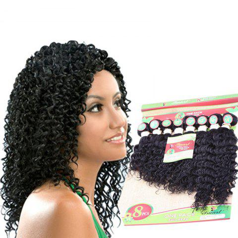 Shops 8PCS Different Sizes Unprocessed Remy Curly Blended Hair Wefts BLACK