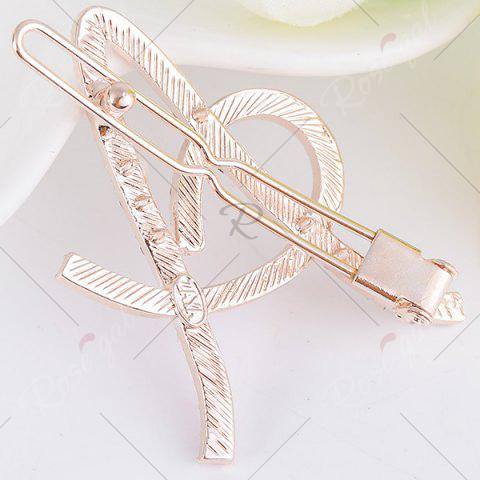 Store Rhinestone Hollow Out Letter A Hair Clip - WHITE  Mobile