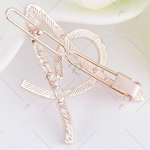 Hot Rhinestone Hollow Out Letter A Hair Clip - COLORFUL  Mobile