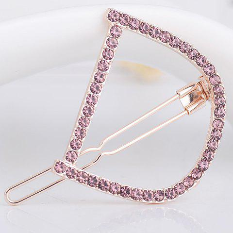 Hot Rhinestone Hollow Out Letter D Hair Clip