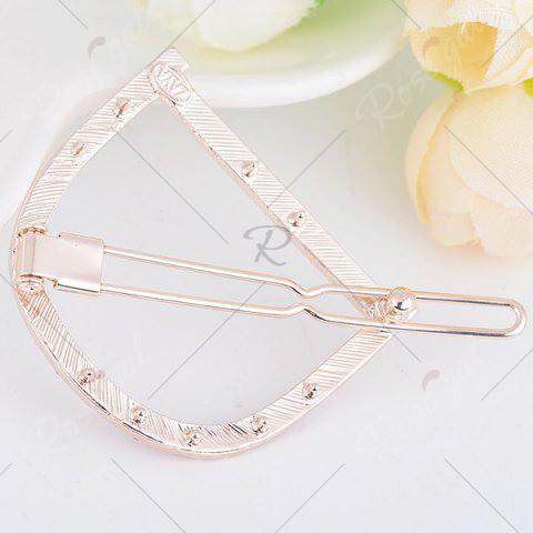 Fashion Rhinestone Hollow Out Letter D Hair Clip - PURPLE  Mobile