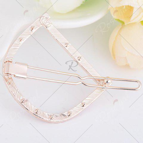 Cheap Rhinestone Hollow Out Letter D Hair Clip - WHITE  Mobile