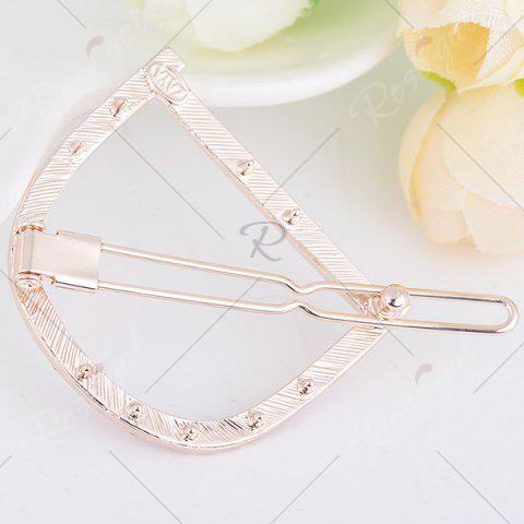 Store Rhinestone Hollow Out Letter D Hair Clip - PAPAYA  Mobile