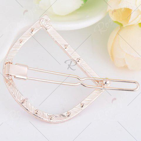 Store Rhinestone Hollow Out Letter D Hair Clip - COLORFUL  Mobile