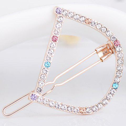 New Rhinestone Hollow Out Letter D Hair Clip COLORFUL