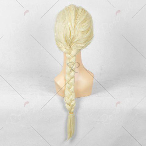Sale Long Braided Straight Frozen Snow Queen Elsa Cosplay Wig - YELLOW  Mobile