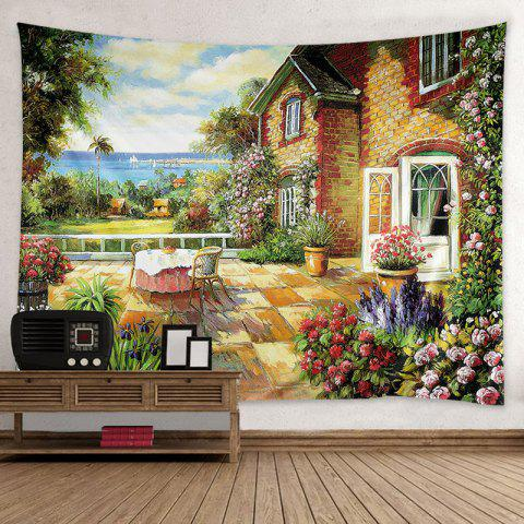 House Garden Print Tapestry Wall Hanging Art Decoration - Colormix - W79 Inch * L59 Inch