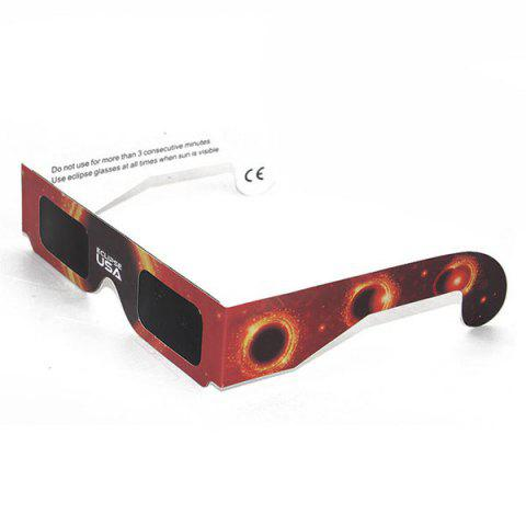 Cheap Solar Eclipse Shades UV Protection Glasses - BLACK AND ORANGE  Mobile