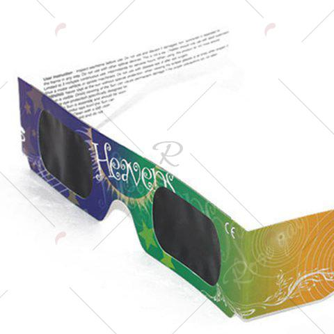 Fashion Solar Eclipse Shades UV Protection Glasses - YELLOW + GREEN  Mobile