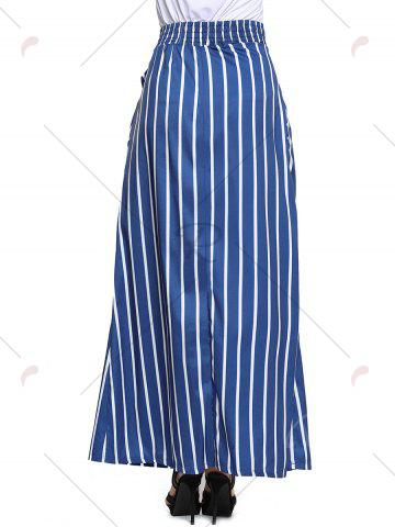 Shops Striped Maxi Skirt - S BLUE Mobile