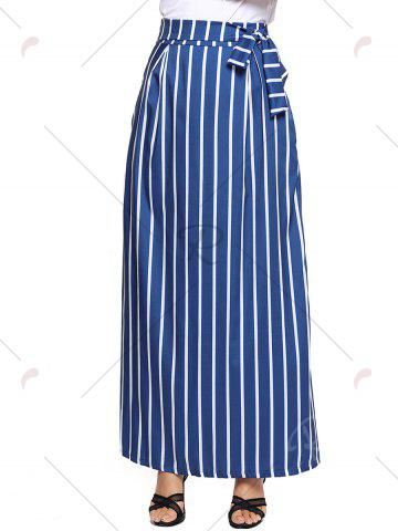 Hot Striped Maxi Skirt - S BLUE Mobile