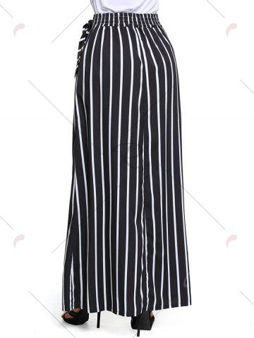 Outfits Striped Maxi Skirt - S BLACK Mobile