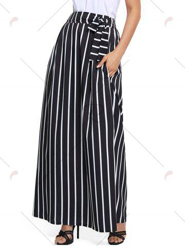 Cheap Striped Maxi Skirt - S BLACK Mobile