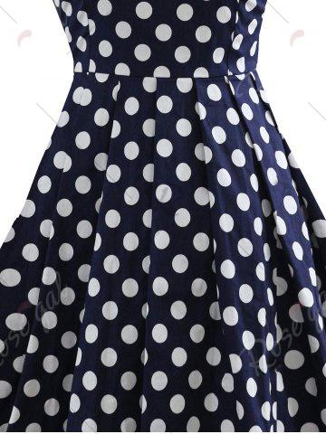 Discount Polka Dot Bowknot Vintage Dress - S COLORMIX Mobile