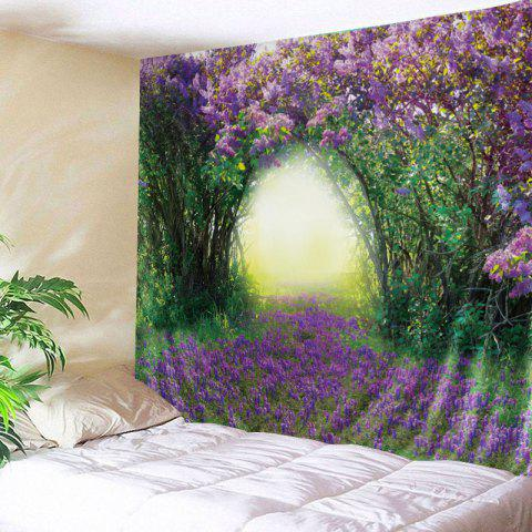 Floral Tree Print Tapestry Wall Hanging Art Décoration