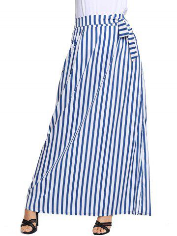 Outfits Striped Maxi Skirt - S WHITE Mobile