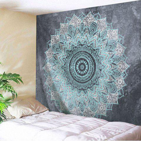 Mandala Print Beach Throw Wall Hanging Tapestry - Gray - W71 Inch * L91 Inch