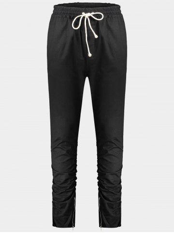 Slim Fit Twill Pants Noir 2XL