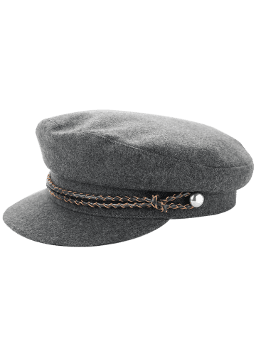 Fancy Woolen Blended Rope Embellished Peaked Hat