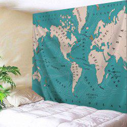 Wall Art Polyester Fabric World Map Tapestry