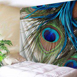 Feather Wall Art colormix w59 inch * l79 inch peacock feather wall art tapestry