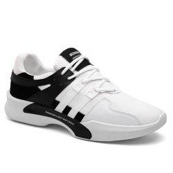 Breathable Mesh Suede Insert Athletic Shoes