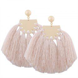 Statement Tassel Geometric Earrings