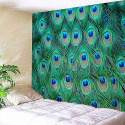 Wall Art Decor Hanging Peacock Feather Tapestry