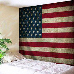 Distressed American Flag Throw Wall Art Tapestry - COLORMIX