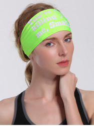 Cycling Sport Letters Printing Headband