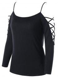 Dew Shoulder Cutout Top