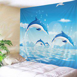 Ocean Dolphine Print Tapestry Wall Hanging Art Decoration